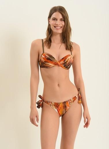 Morhipo Beach Kadın Dönen Dolgulu Bikini MBKSS21BK0017 Kiremit